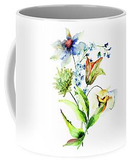 Decorative Flowers Coffee Mug