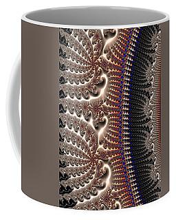 Decorative Fractal Texture Gray Brown Black Coffee Mug