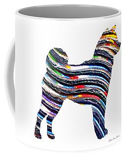 Decorative Husky Abstract O1015b Coffee Mug