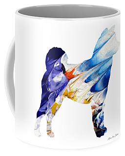 Decorative Husky Abstract O1015c Coffee Mug