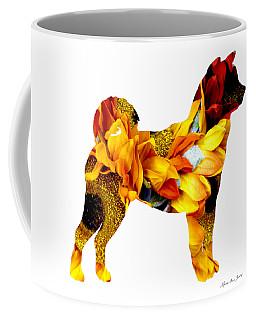 Decorative Husky Abstract O1015g Coffee Mug