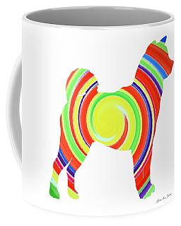 Decorative Husky Abstract O1215s Coffee Mug