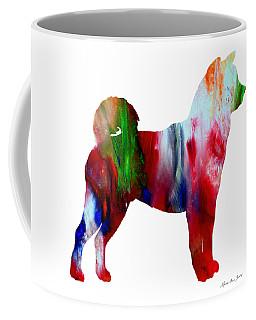 Decorative Husky Abstract O1015p Coffee Mug