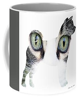 Decorative Mixed Media Abstract Husky O33117c Coffee Mug