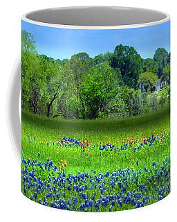 Decorative Texas Homestead Bluebonnets Meadow Mixed Media Photo H32517 Coffee Mug
