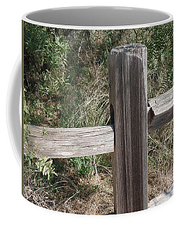 Coffee Mug featuring the photograph Decorative View - Central Texas Fence Line by Ray Shrewsberry