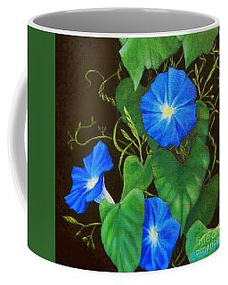Deep Blue Morning Glory Coffee Mug