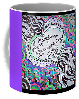Coffee Mug featuring the drawing Deep by Carole Brecht