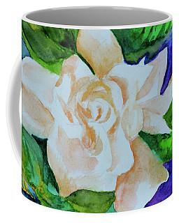 Coffee Mug featuring the painting Deep Gardenia by Beverley Harper Tinsley