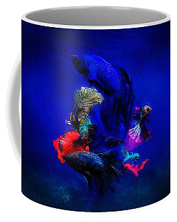 Coffee Mug featuring the painting Deep Oceans by Mark Taylor