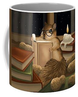 Coffee Mug featuring the painting Deep Study by Veronica Minozzi
