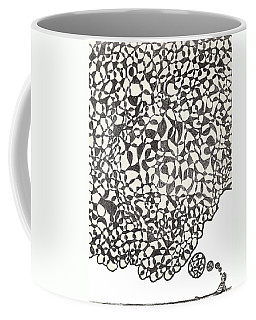Coffee Mug featuring the drawing Deep Thoughts by Jean Haynes
