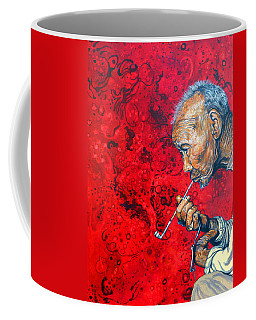 Coffee Mug featuring the painting Deep Thoughts by Tom Roderick