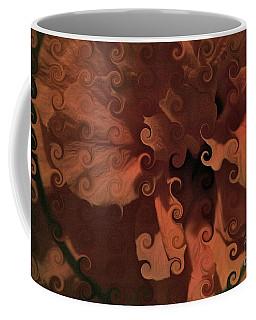 Deep Wine Curlicue Hibiscus Coffee Mug
