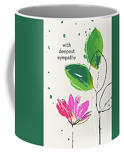 Deepest Sympathy Daisy- Art By Linda Woods Coffee Mug