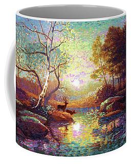 Deer And Dancing Shadows Coffee Mug