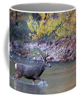 Deer Crossing River Coffee Mug