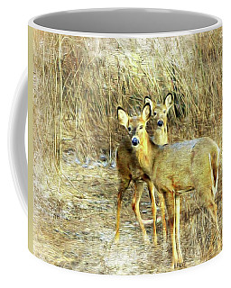 Coffee Mug featuring the photograph Deer Duo 6 by Marty Koch