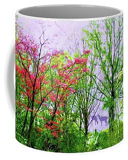 Deer In Forest Trees Coffee Mug