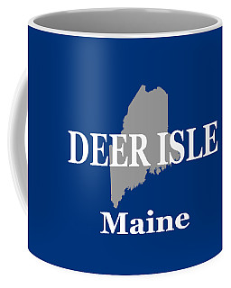 Coffee Mug featuring the photograph Deer Isle Maine State City And Town Pride  by Keith Webber Jr