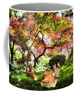 Deer Relaxing In A Meadow Coffee Mug