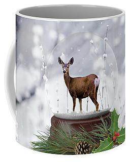 Deer Snow Globe Coffee Mug