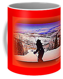 Deer Valley Utah Powder Coffee Mug by Richard W Linford