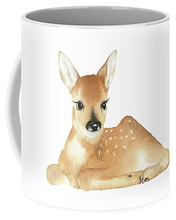 Deer Watercolor Coffee Mug by Taylan Apukovska