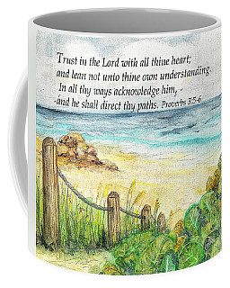 Deerfield Beach Sea Grapes Proverbs 3 Coffee Mug