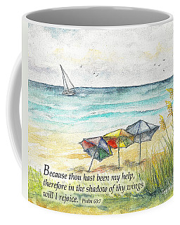 Deerfield Beach Umbrellas Psalm 63 Coffee Mug