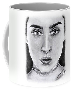 Lauren Jauregui Drawing By Sofia Furniel  Coffee Mug