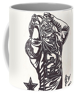 Coffee Mug featuring the drawing Deion Sanders by Jeremiah Colley