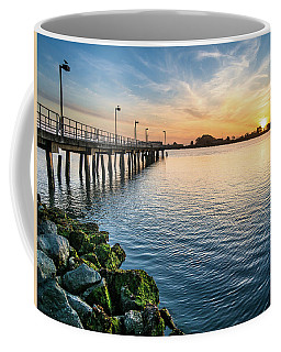 Del Norte Pier And Spring Sunset Coffee Mug by Greg Nyquist