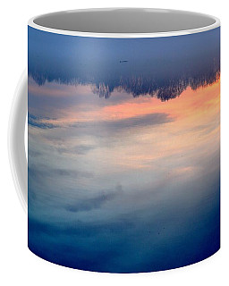 Delaware River Abstract Reflections Foggy Sunrise Nature Art Coffee Mug
