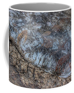 Delaware River Ice With Leaves Coffee Mug