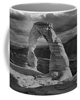 Delicate Arch Black And White Sunset Shadow Coffee Mug