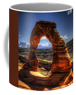 Delicate Arch Framing La Sal Mountains Coffee Mug