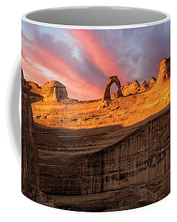 Coffee Mug featuring the photograph Delicate Arch   by Expressive Landscapes Fine Art Photography by Thom