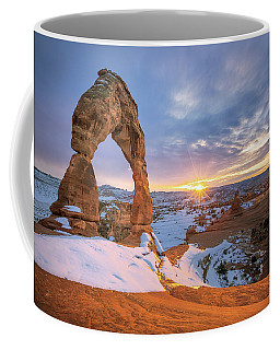 Delicate Arch Winter Coffee Mug