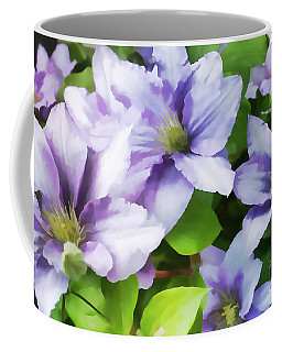 Delicate Climbing Clematis  Coffee Mug by Judy Palkimas
