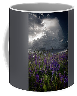 Delicate Flowers And Building Thunder Coffee Mug by Mick Anderson