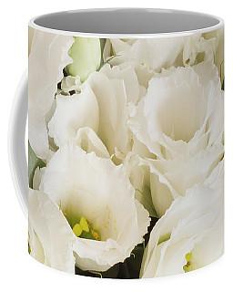 Delicate White Lisianthus Flowers Coffee Mug