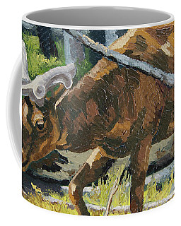 Coffee Mug featuring the painting Delicious Greens, Yellowstone by Erin Fickert-Rowland