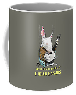 Deliverance Bull Terrier Caricature Art Print Coffee Mug