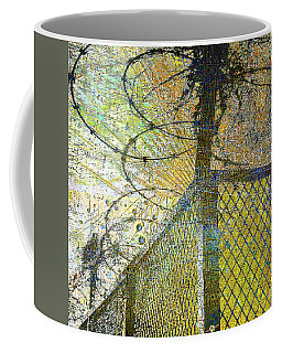 Coffee Mug featuring the mixed media Deliverance by Tony Rubino