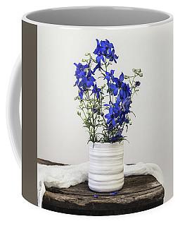 Coffee Mug featuring the photograph Delphinium Blue by Kim Hojnacki