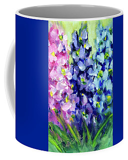 Delphiniums Mixed Coffee Mug