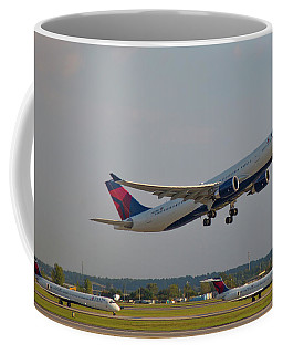 Delta Airlines Jet N827nw Airbus A330-300 Atlanta Airplane Art Coffee Mug