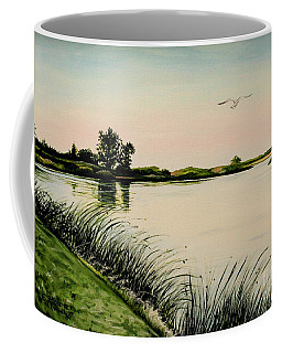 Coffee Mug featuring the painting Delta At Dusk by Elizabeth Robinette Tyndall