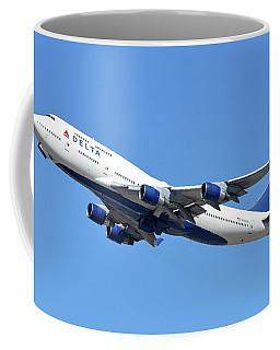 Delta Boeing 747-451 N667us Phoenix Sky Harbor October 7 2017  Coffee Mug